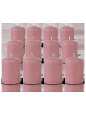 Pack de 12 bougies votives Vieux Rose 5x7cm
