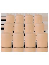 Pack de 12 bougies votives Rose Poudré 5x7cm