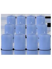 Pack de 12 bougies votives Bleu arctique 5x7cm