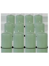 Pack de 12 bougies votives Menthe 5x7cm