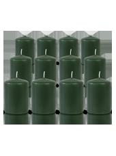 Pack de 12 bougies votives Vert Sapin 5x7cm
