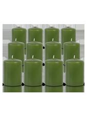 Pack de 12 bougies votives Vert 5x7cm