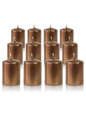 Pack de 12 bougies votives Bronze 5x7cm
