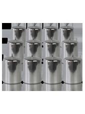 Pack de 12 bougies votives Argent 5x7cm