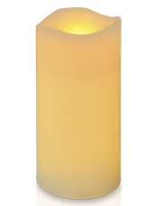 Grosse Bougie LED Ivoire 15x30 cm