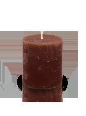 Bougie cylindre rustique Chocolat 7x8cm