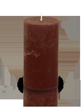 Bougie cylindre rustique Chocolat 7x15cm