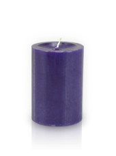 Bougie cylindre premium Violet aubergine 7x10cm