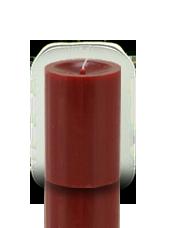 Bougie cylindre premium Rouge carmin 7x10cm