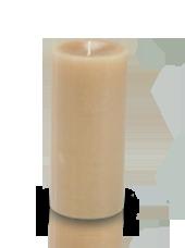 Bougie cylindre premium Poudre 7x15cm
