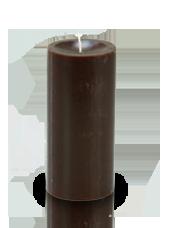 Bougie cylindre premium Chocolat 7x15cm
