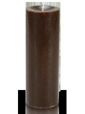 Bougie cylindre premium Chocolat 7x20cm