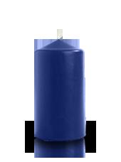 Bougie cylindre Bleu Roi 6x11cm
