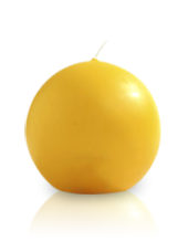 Bougie ronde Jaune maïs 7cm