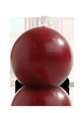 Bougie ronde Bordeaux 7cm