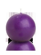 Bougie ronde Violet aubergine 7cm