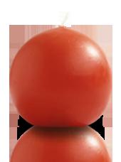 Bougie ronde Terracota 9cm