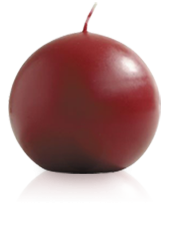 Bougie ronde Bordeaux 9cm
