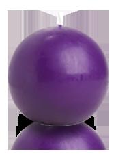 Bougie ronde Violet aubergine 9cm