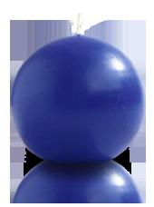 Bougie ronde Bleu Roi 9cm