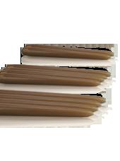 Pack de 10 chandelles Capuccino 2,2x24,5cm