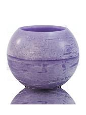 Photophore d'extérieur hurricane Violet lilas 20x15,5cm