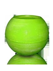 Photophore d'extérieur hurricane Vert pistache 20x15,5cm
