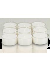 9 bougies chauffe-plat Blanc