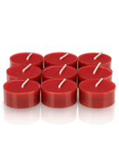 9 bougies chauffe-plat Rouge