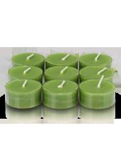9 bougies chauffe-plat Vertes