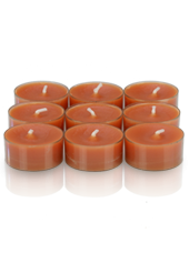 9 bougies chauffe-plat Orange