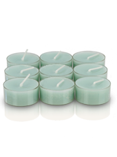 9 bougies chauffe-plat Vert d'eau