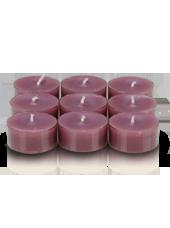 9 bougies chauffe-plat Rose
