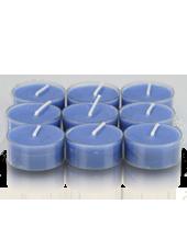 9 bougies chauffe-plat Bleu roi