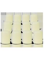 Pack de 12 bougies votives Ivoire 5x7cm