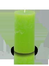 Bougie cylindre rustique Vert pistache 7x15cm