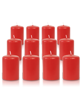 Pack de 12 bougies votives Rouge 5x7cm