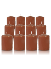 Pack de 12 bougies votives Caramel 5x7cm