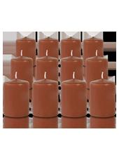 Pack de 12 bougies votives Caramel 5x7cm