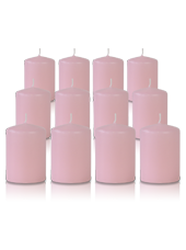 Pack de 12 bougies votives Rose 5x7cm
