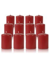 Pack de 12 bougies votives Carmin 5x7cm