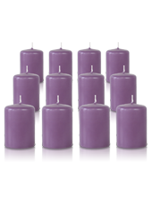 Pack de 12 bougies votives Parme 5x7cm