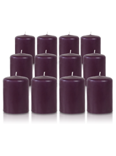 Pack de 12 bougies votives Prune 5x7cm