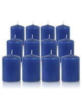 Pack de 12 bougies votives Bleu Saphir 5x7cm