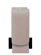 Bougie cylindre rustique Beige sable 7x15cm