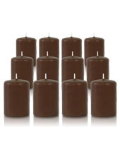 Pack de 12 bougies votives Cappuccino 5x7cm