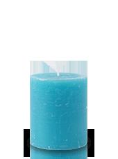 Bougie rustique Turquoise 8x7cm