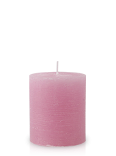 Bougie rustique Vieux Rose 8x7cm