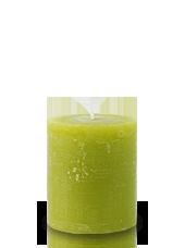 Bougie rustique Vert Citron 8x7cm