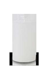 Bougie rustique Blanche 11x7cm